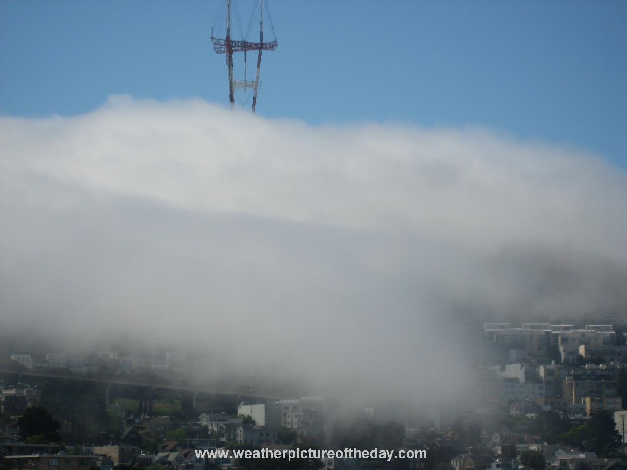 Fog rolling into san francisco ca