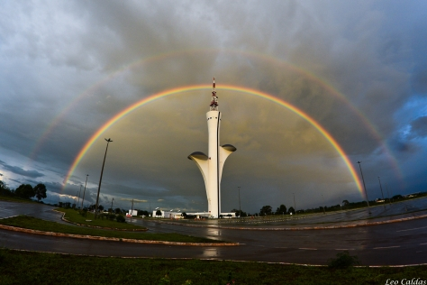 double rainbow in brasilia
