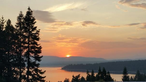 sunset almanor