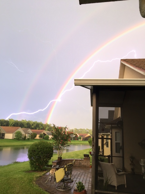 dble rainbow and lightning