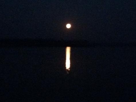 Supermoom over Chautauqua Lake 12-3-17