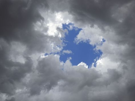 Hole in the clouds
