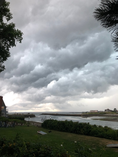 Storm over Kennebunkport river